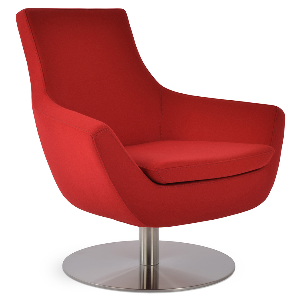 Wondrous Rebecca Arm Chair Swivel Base Red Wool Alphanode Cool Chair Designs And Ideas Alphanodeonline