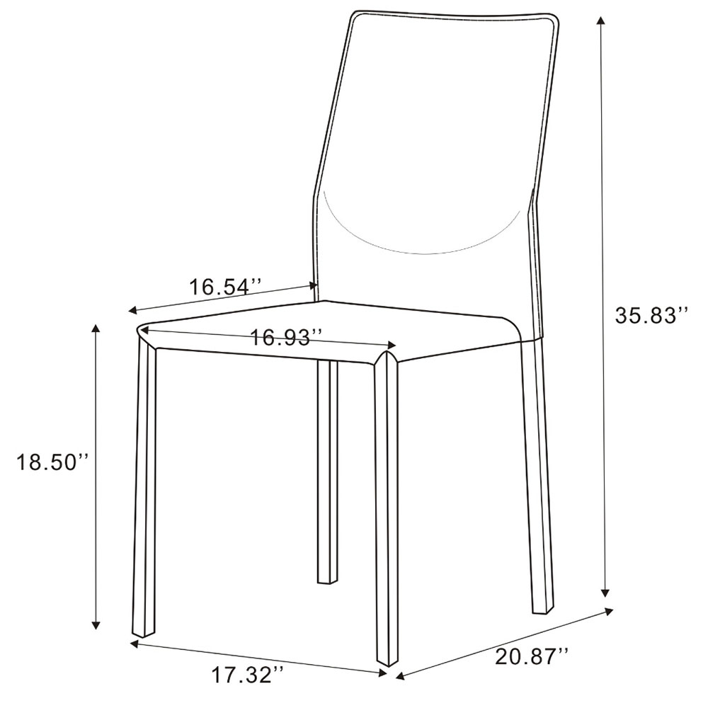dining chair dimensions basic rhodes side chair set of modern dining chairs eurway furniture