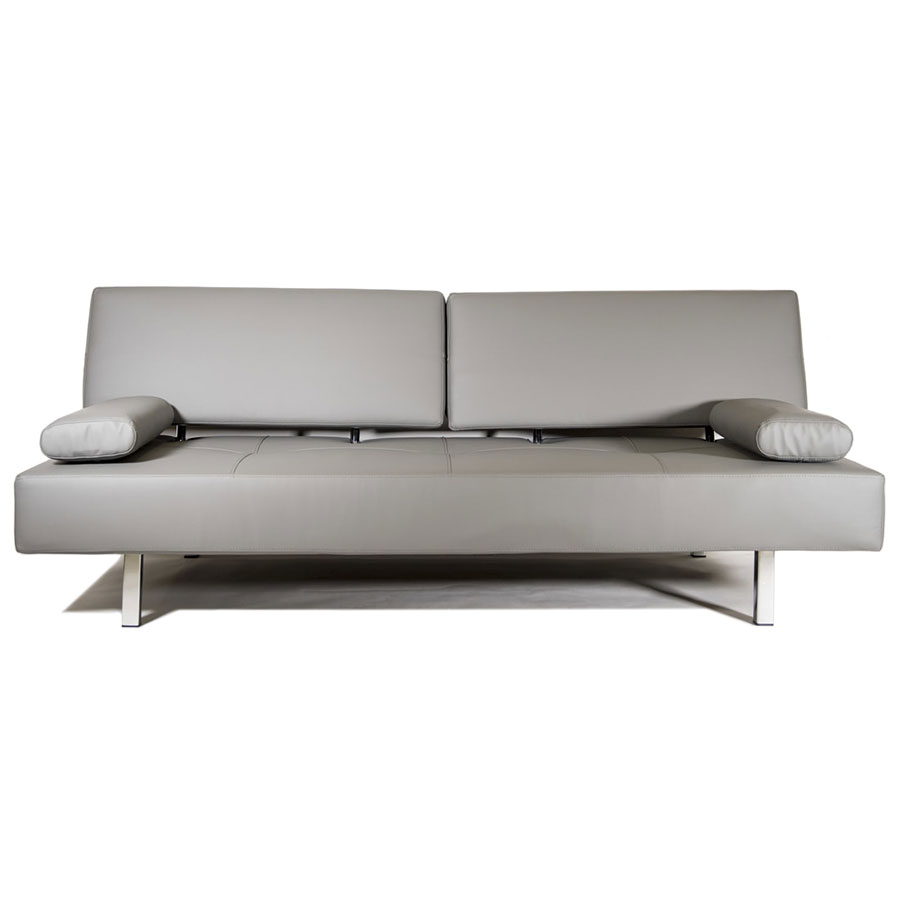 - Modern Sofa Bed Rio Leatherette Gray Sleeper Sofa Eurway