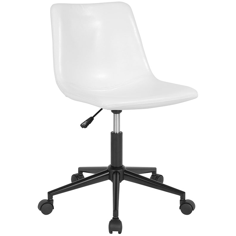 Sara Task Chair | White Leatherette