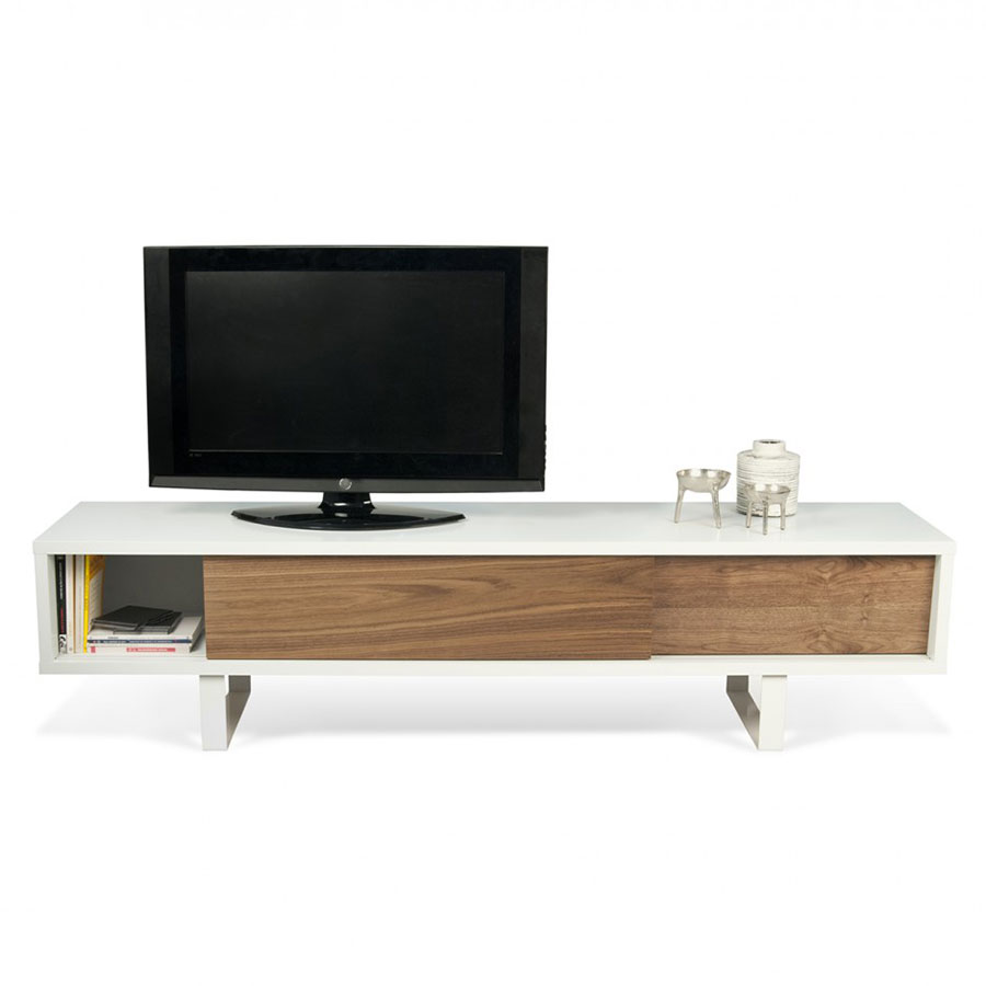Slide White Walnut Tv Stand By Temahome Eurway