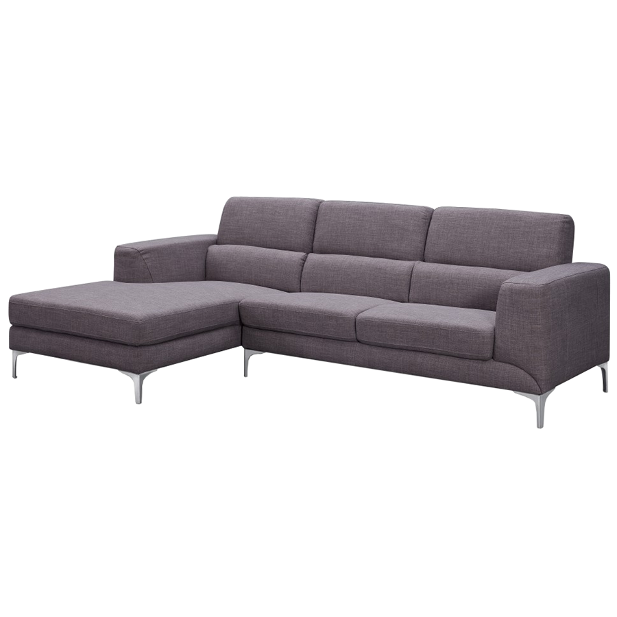 Sydney modern gray fabric sectional sofa eurway