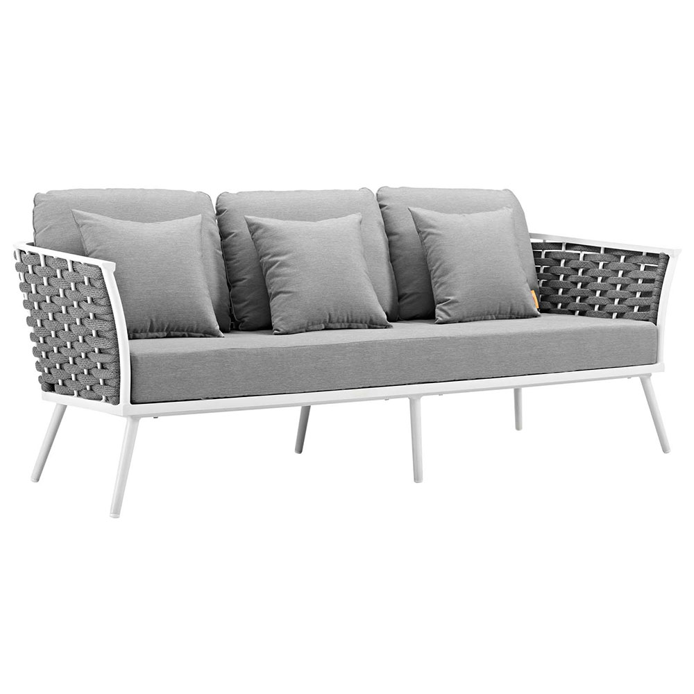 Awesome Sylvie Outdoor Sofa Gray Onthecornerstone Fun Painted Chair Ideas Images Onthecornerstoneorg