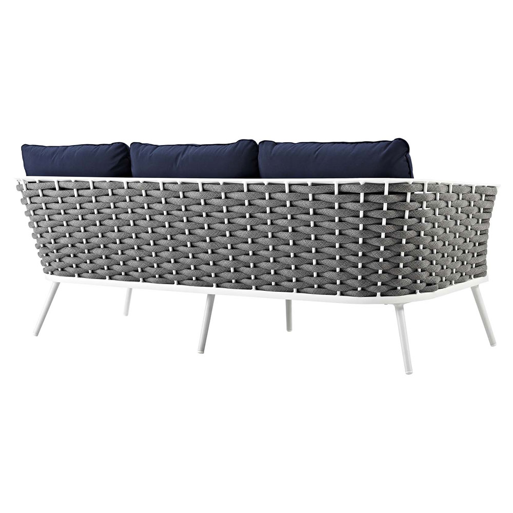 Awesome Sylvie Outdoor Sofa Navy Onthecornerstone Fun Painted Chair Ideas Images Onthecornerstoneorg