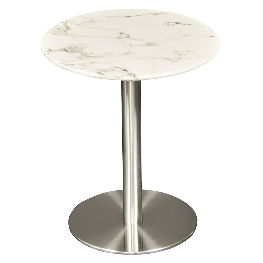 Tammy White Marble Side Table By Euro Style | Eurway
