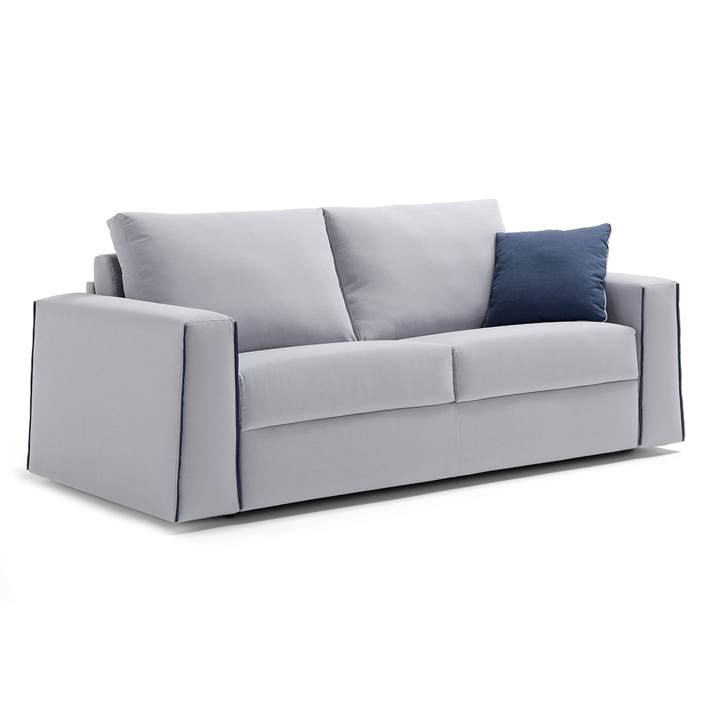Temple Sleeper Sofa | Light Grey