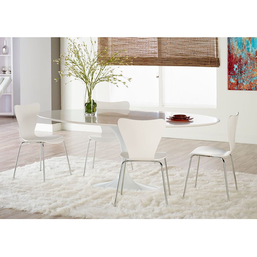 Terrell Dining Chair | White | Set Of 4
