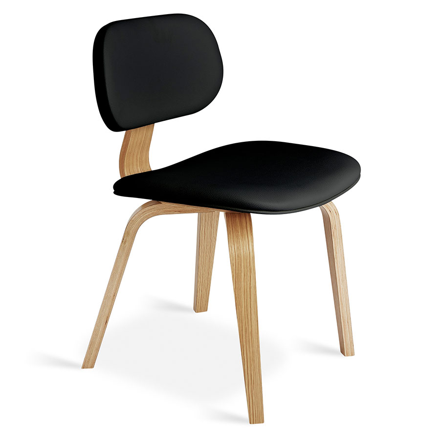 Charmant Gus Modern Thompson Chair Black In Natural Oak | Eurway