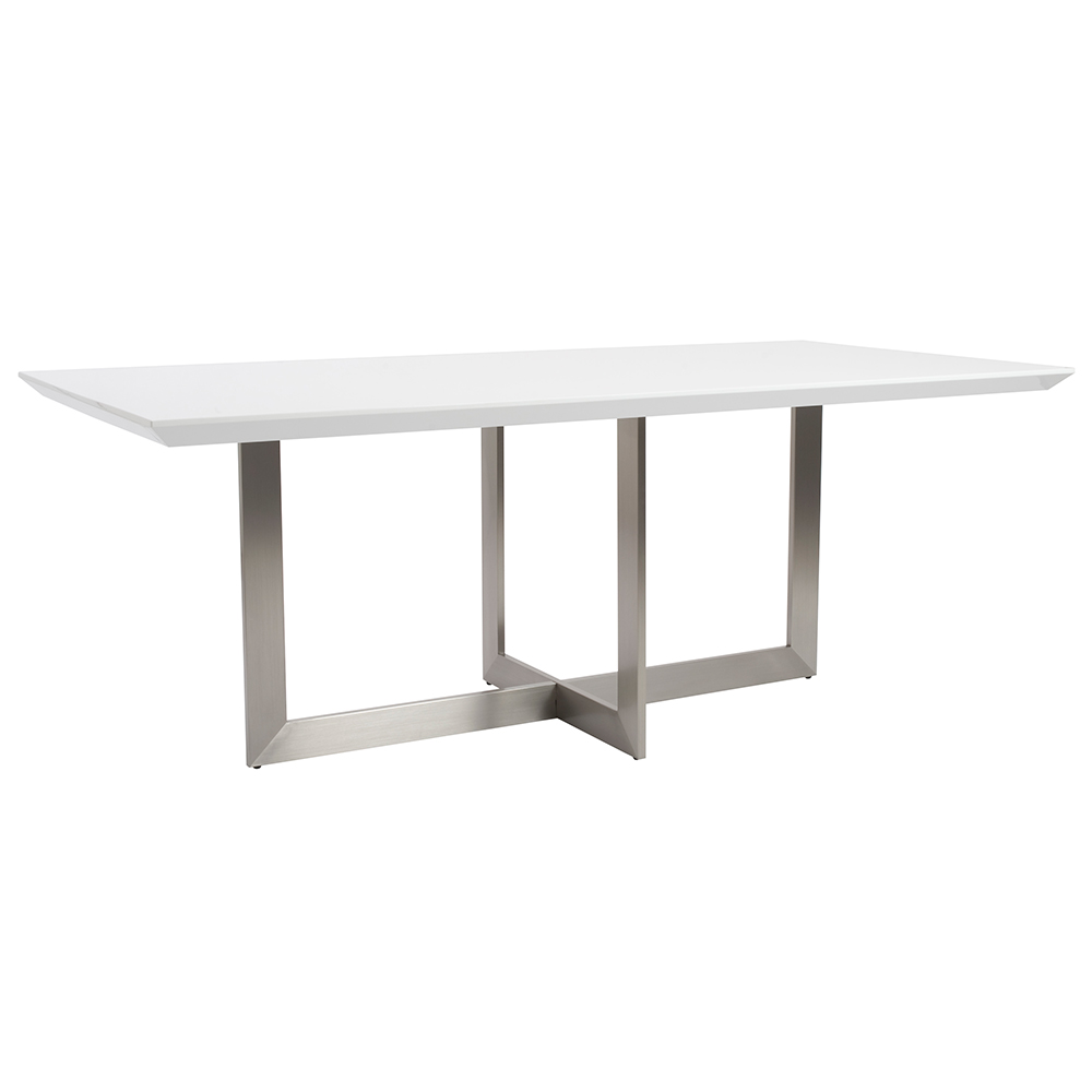 Tosca Modern White Dining Table By Euro Style Eurway