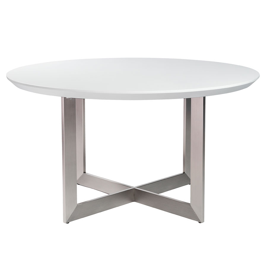 Tosca matte white modern dining table eurway furniture