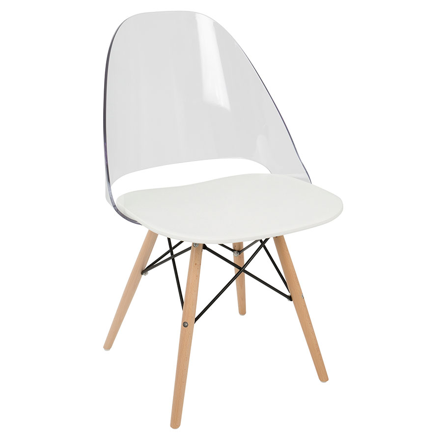 Modern Dining Chairs Trier White Side Chair Eurway