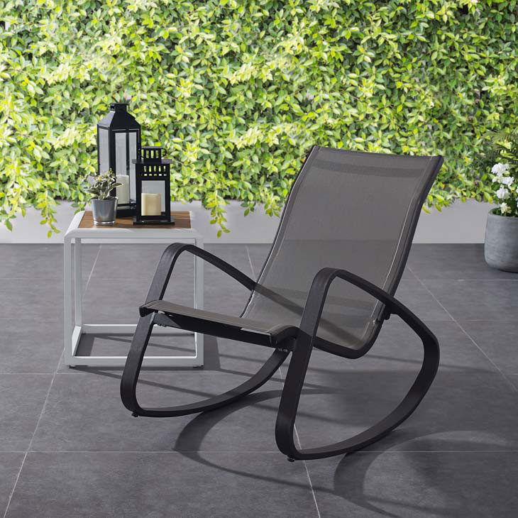 Trivio Outdoor Rocking Chair Black