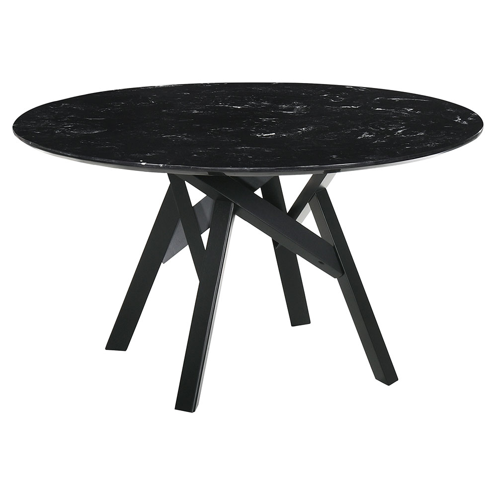 Victor Modern 54 In Round Black Dining Table Eurway