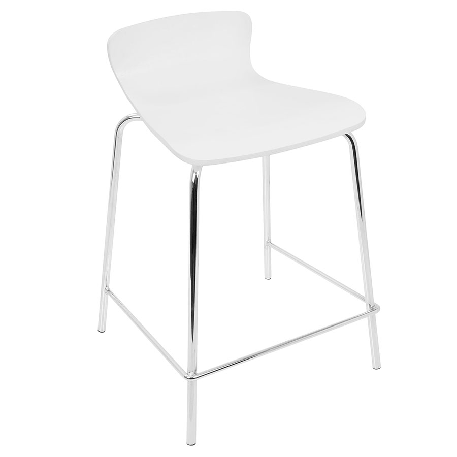 Weatherford Modern White Stacking Counter Stool | Eurway