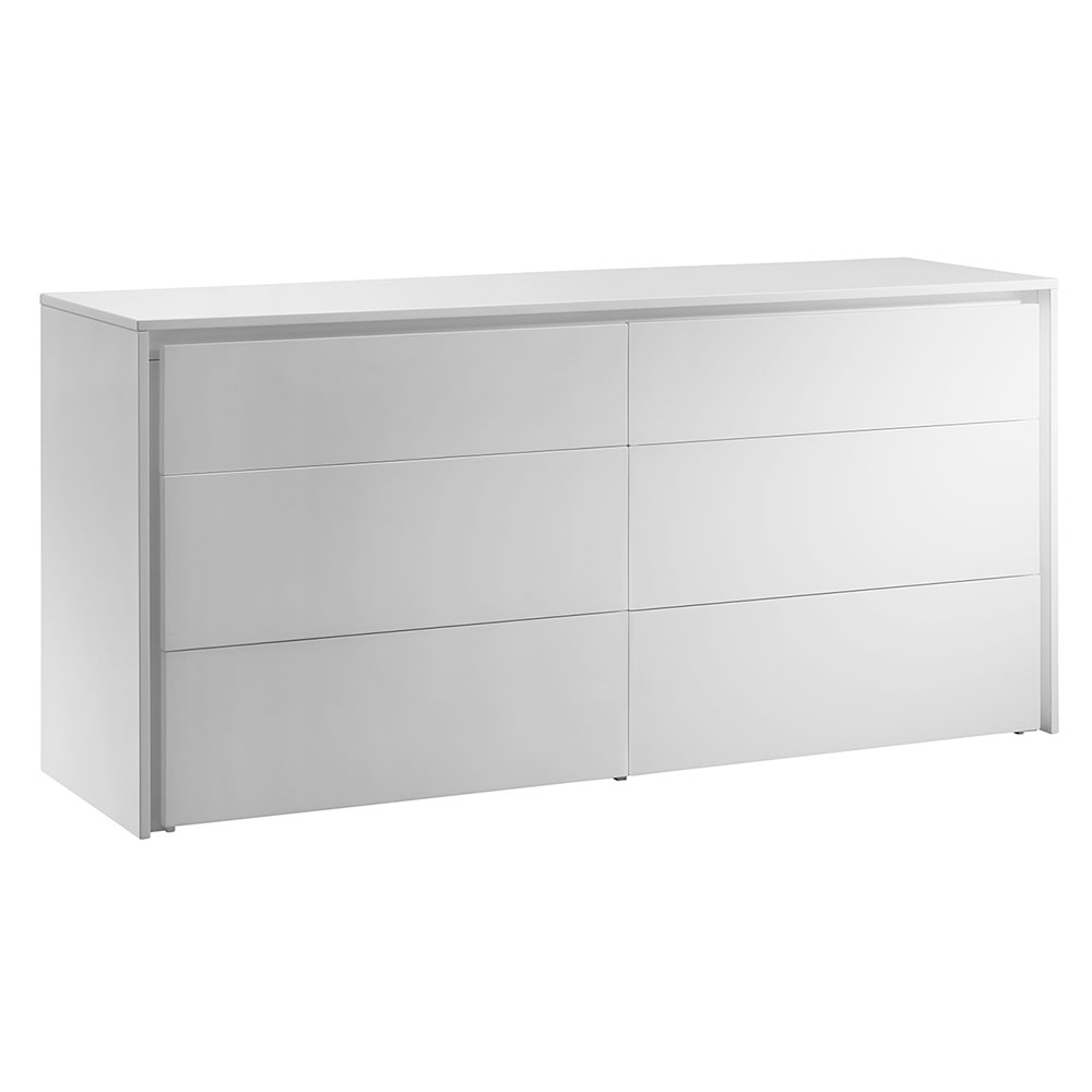 white contemporary dresser