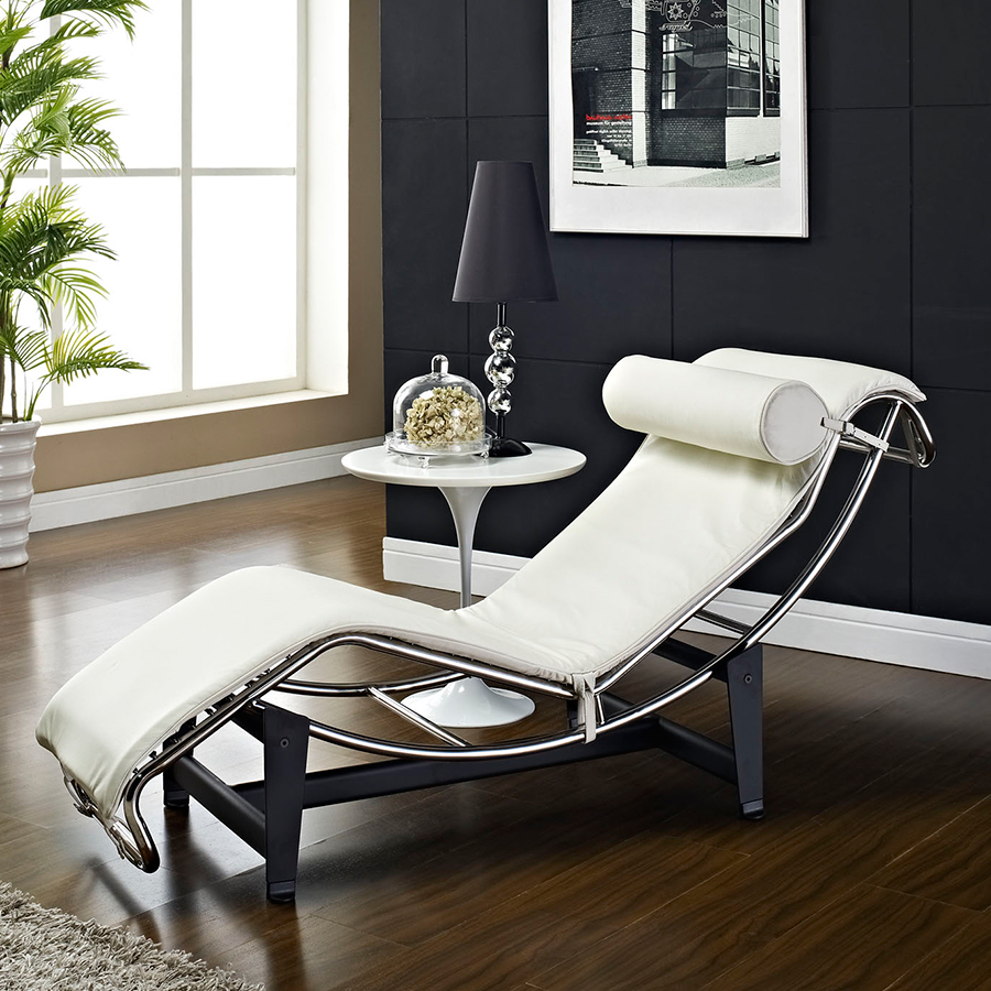 Modern Chaise Lounges | Amaca White Chaise Lounge | Eurway