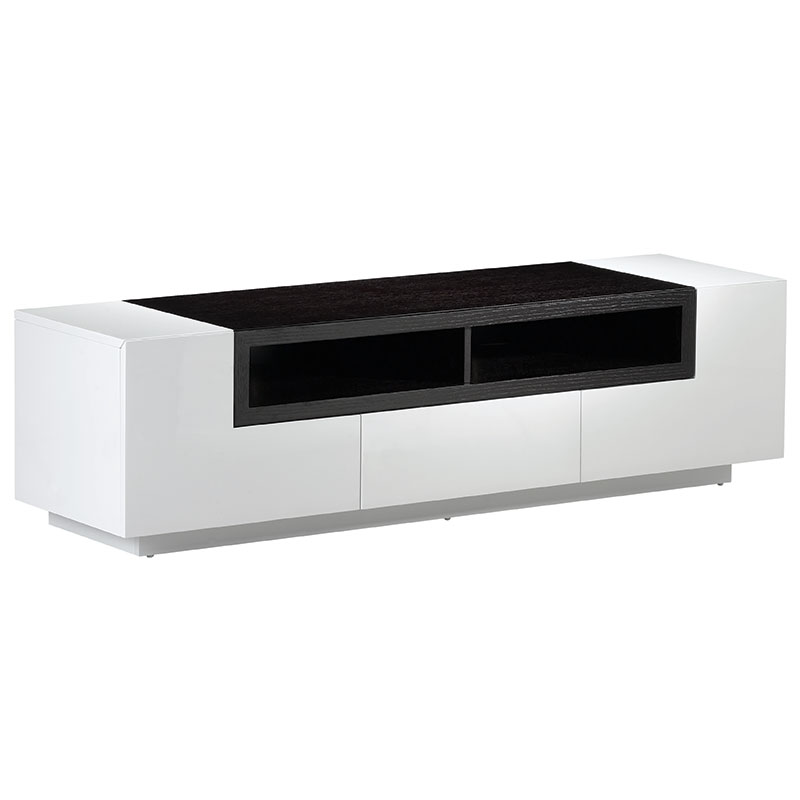 white modern tv stand Modern TV Stands   Leclair TV Stand   Eurway Furniture white modern tv stand