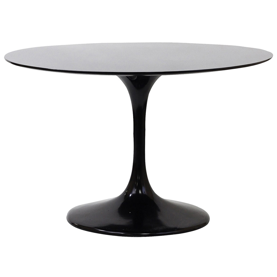 Odyssey 47 Round Dining Table Black