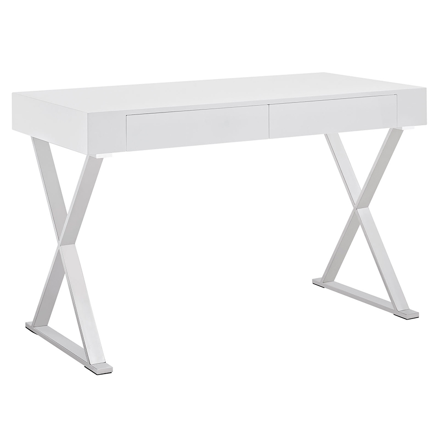 White Desk Intended Modern Desks Samuel White Desk Eurway Furniture