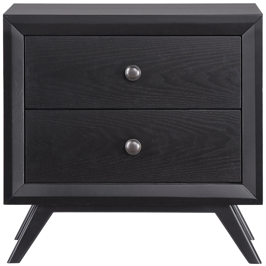 Toronto Modern Black Nightstand Bedside Table