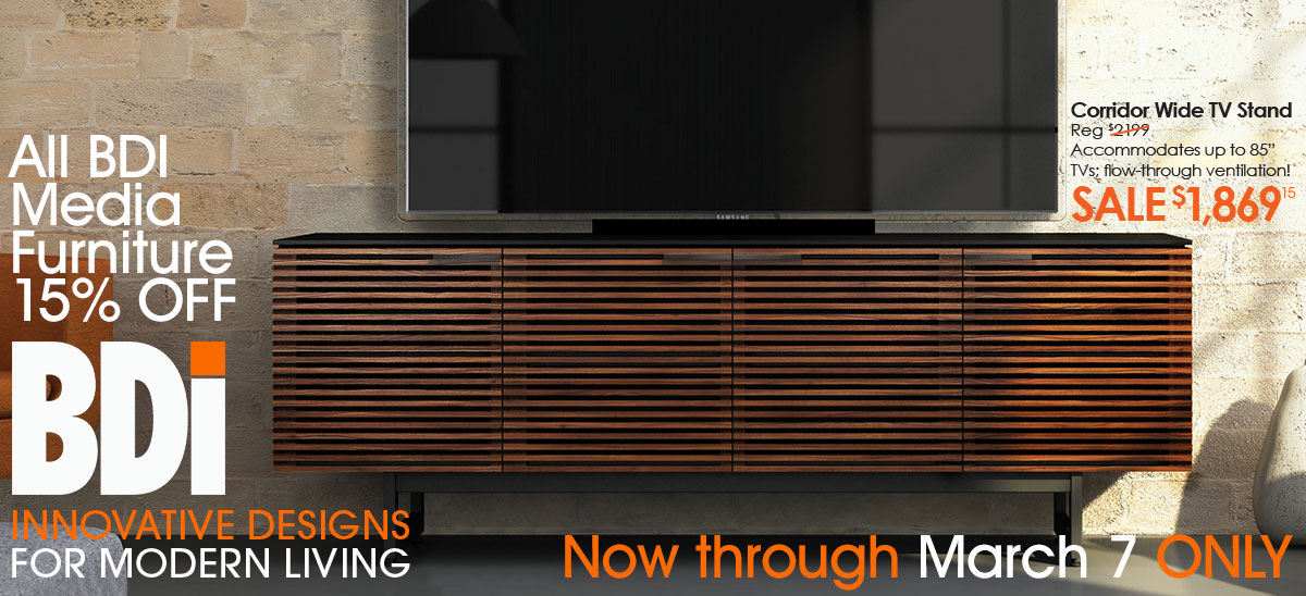 Save Now on BDI Media Furniture