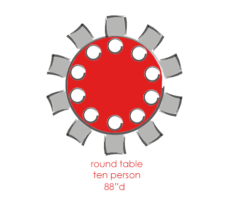 Round 10 Person Tables