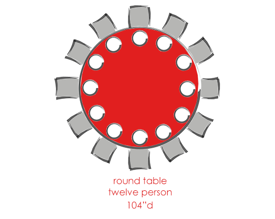Round 12 Person Tables