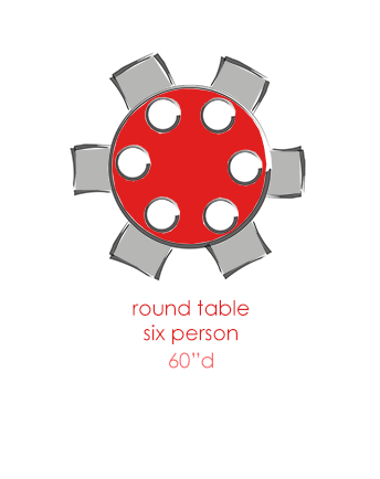 Round 6 Person Tables