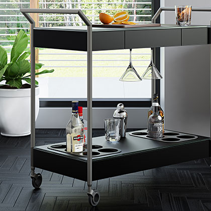 Modern Bars + Serving Carts