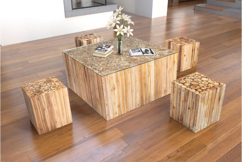 Chava Modern Coffee Table + Side Table