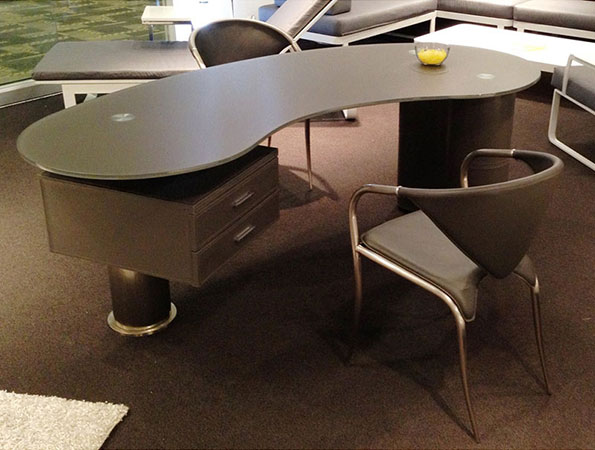 The Kohler Desk in Gray is a top 5 Eurway.com Customer Pick Modern Desk.