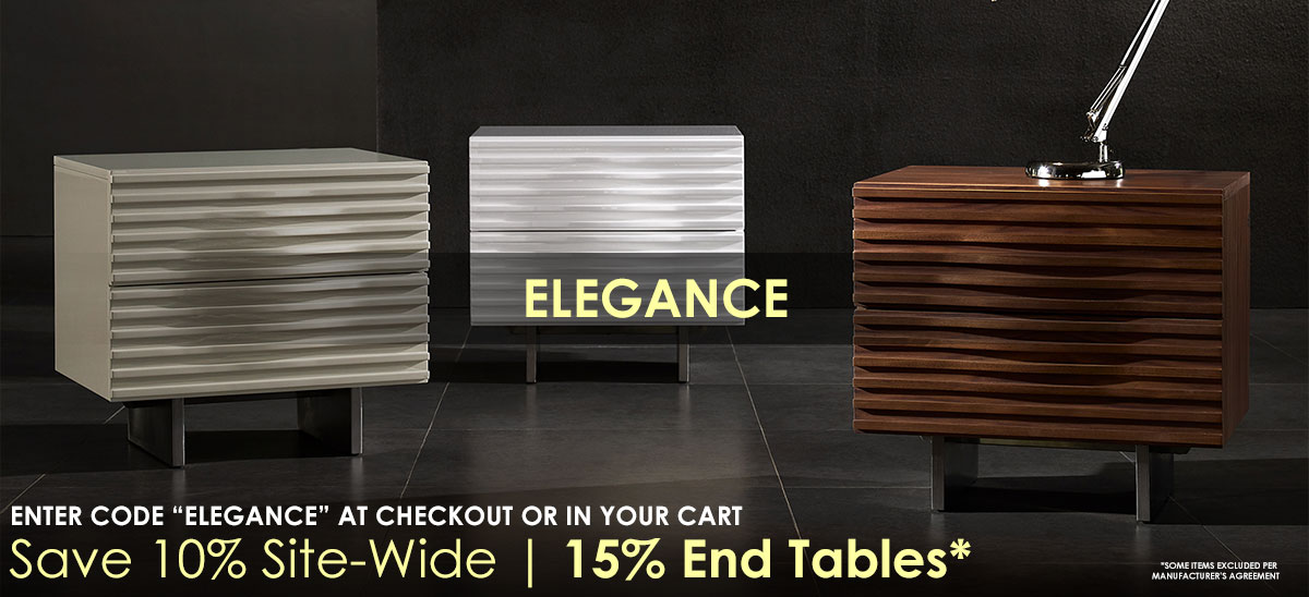 "Save 10% Site-Wide + 15% Off Side Tables With Coupon Code ""ELEANCE"" Thru 9/24/18 