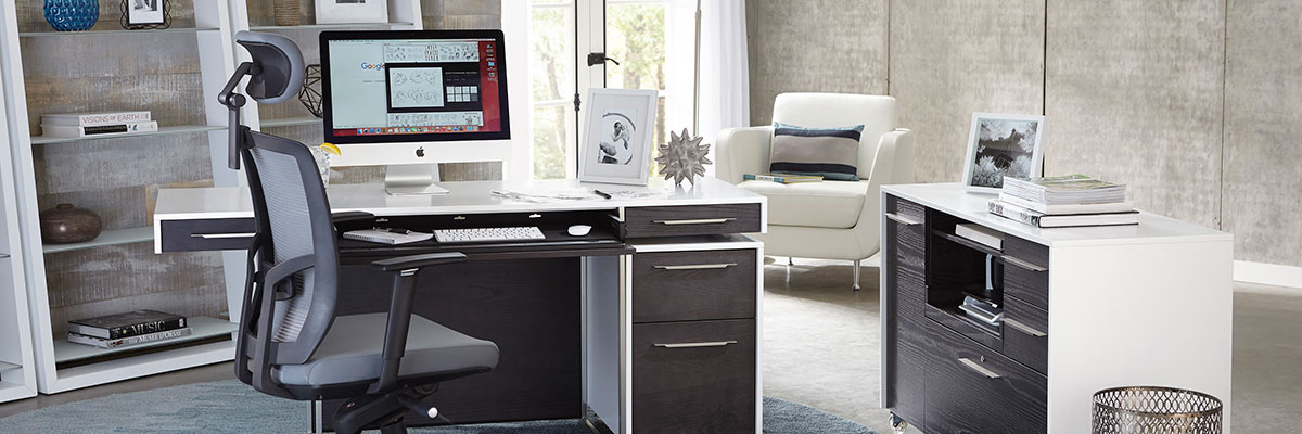 The Format Modern Office Collection has tons of features, style and storage, and is a flexible office system.