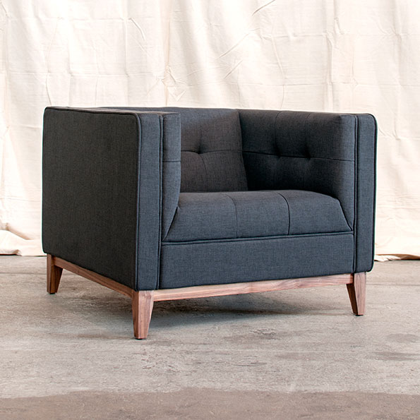 On Sale Now - Atwood Chair in Urban Tweed Ink