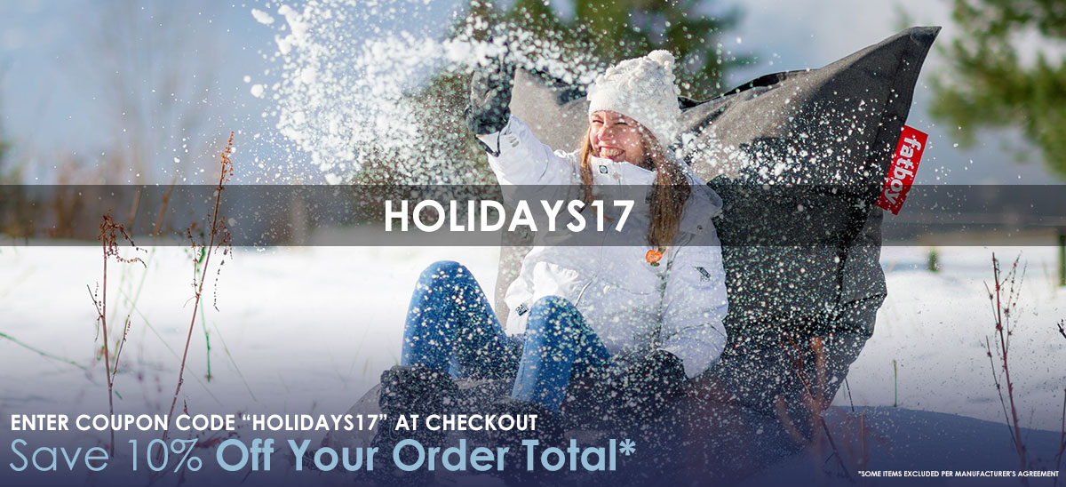 Save 10% Off Your Order Total With Coupon Code HOLIDAYS17 - Shop Now >