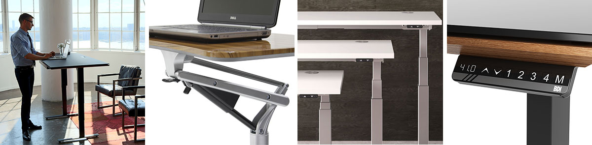 Modern Adjustable Height Desks + Sit-Stand Desks