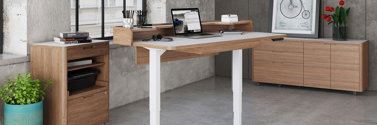 The Kronos Modern Office Collection by BDi is Ergonomic, Stylish and Warm.