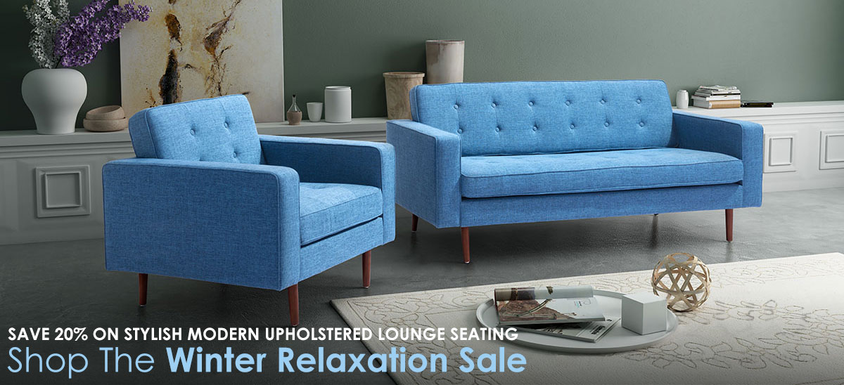 Save 20% On Stylish Upholstered Lounge Seating This Winter