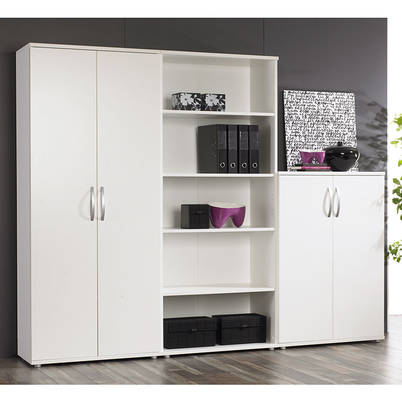 Bavaria White Bookcases And Doors