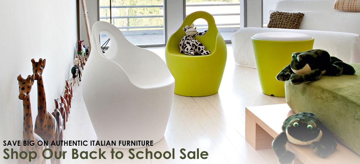Shop our Back to School Sale to save up to 25% on authentic modern Italian furniture.