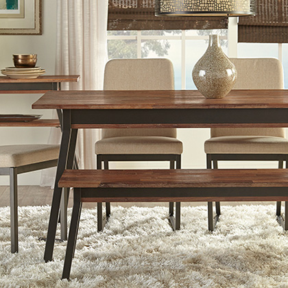 modern dining benches stools - Contemporary Dining Room Tables