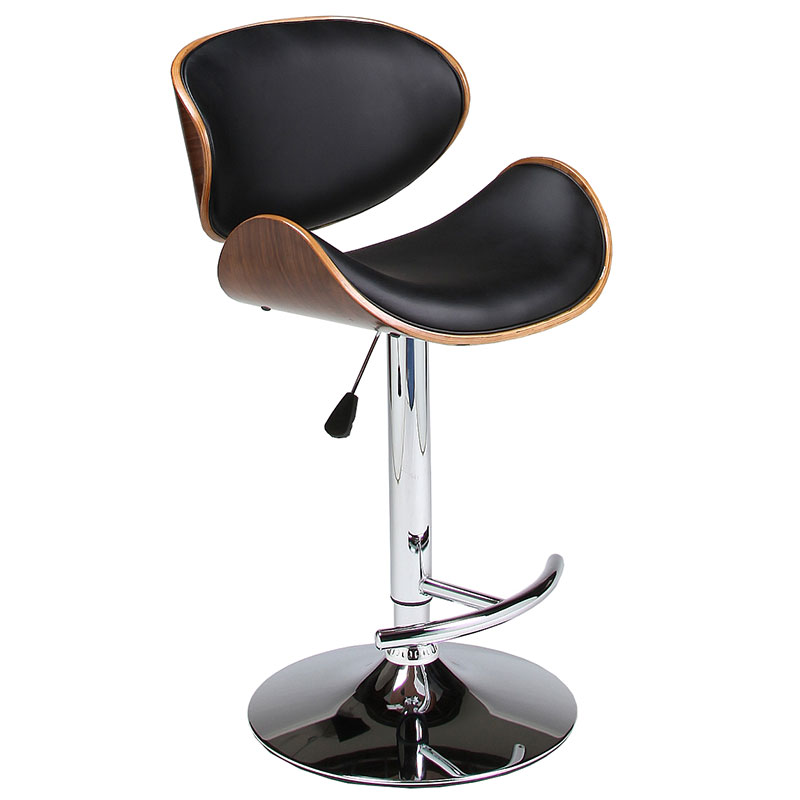 Modern Bar Stools | Jojo Black Adjustable Stool | Eurway