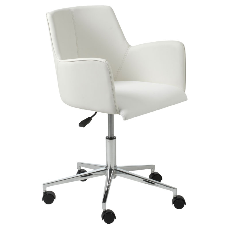 Sunny Pro Modern White Office Chair By Euro Style Eurway