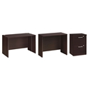 600 Plus Modern Coffee-Colored Desk + File Set