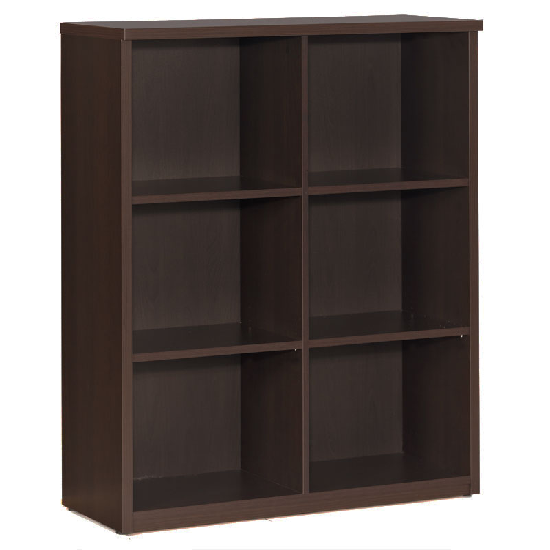 600 Plus Low Bookcase in Coffee