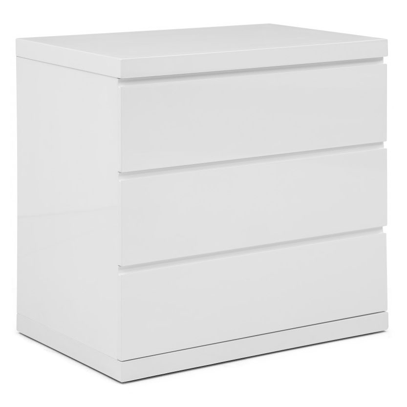 Aarhus Modern White 3 Drawer Chest