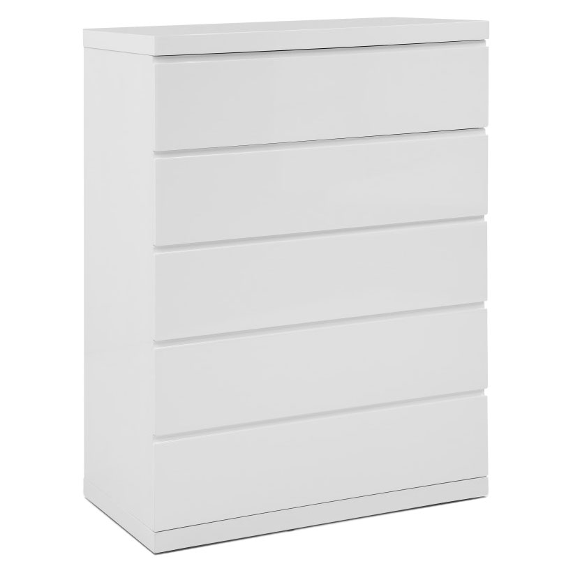 Anna Modern White Chest of Drawers