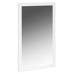 Anna Modern White Wall Mirror