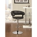 Aarne Black Adjustable Contemporary Bar Stool