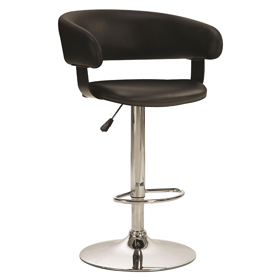 Aarne Black Adjustable Modern Bar Stool